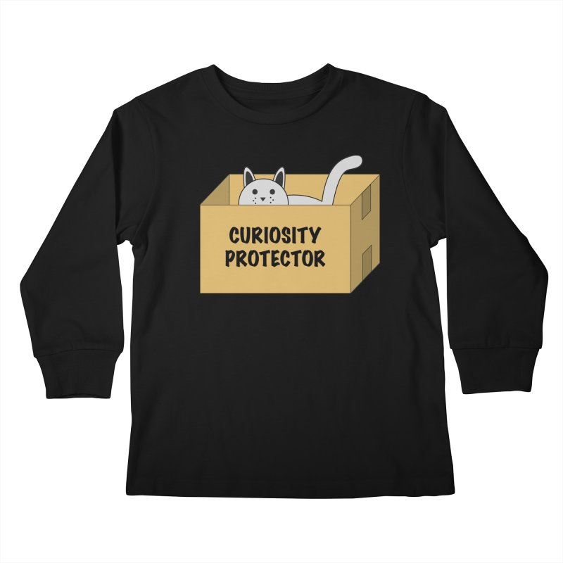 "Cat ""Curiosity Protector"" A.K.A. ""BOX"" Kids Longsleeve T-Shirt by donnovanknight's Artist Shop"