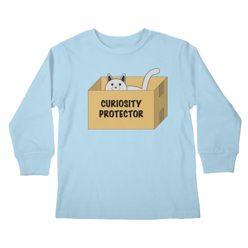 "Cat ""Curiosity Protector"" A.K.A. ""BOX"" Kids Longsleeve T-Shirt by donnovanknight's Artist Shop"