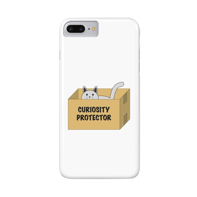 """Cat """"Curiosity Protector"""" A.K.A. """"BOX"""" Accessories Phone Case by donnovanknight's Artist Shop"""