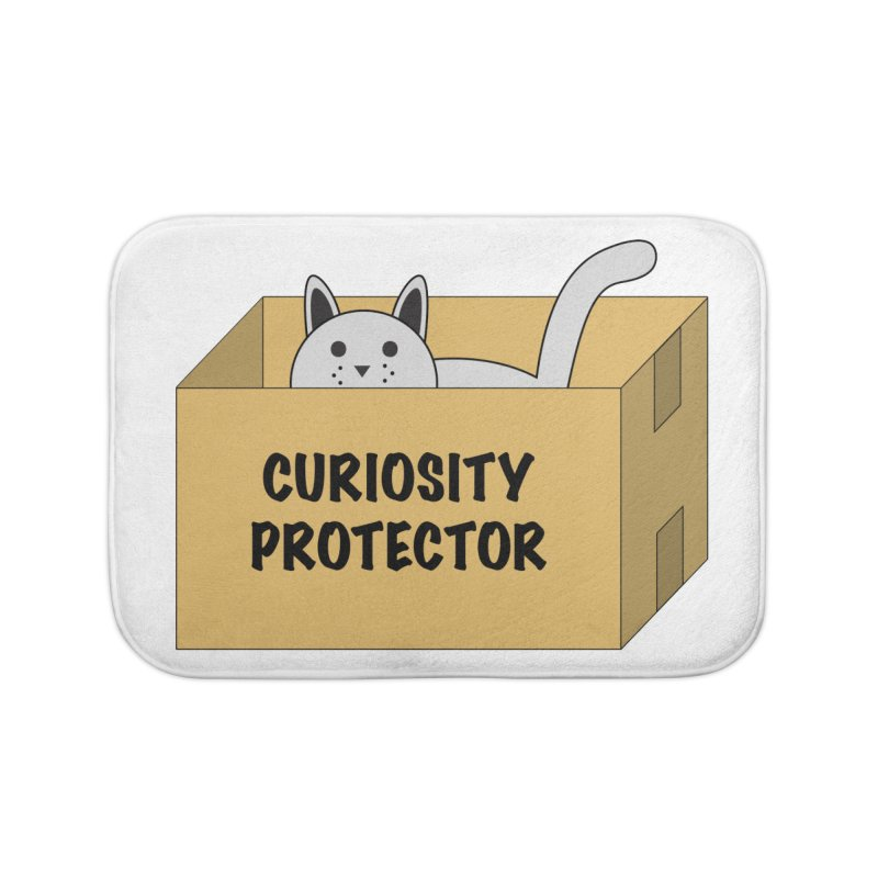 "Cat ""Curiosity Protector"" A.K.A. ""BOX"" Home Bath Mat by donnovanknight's Artist Shop"