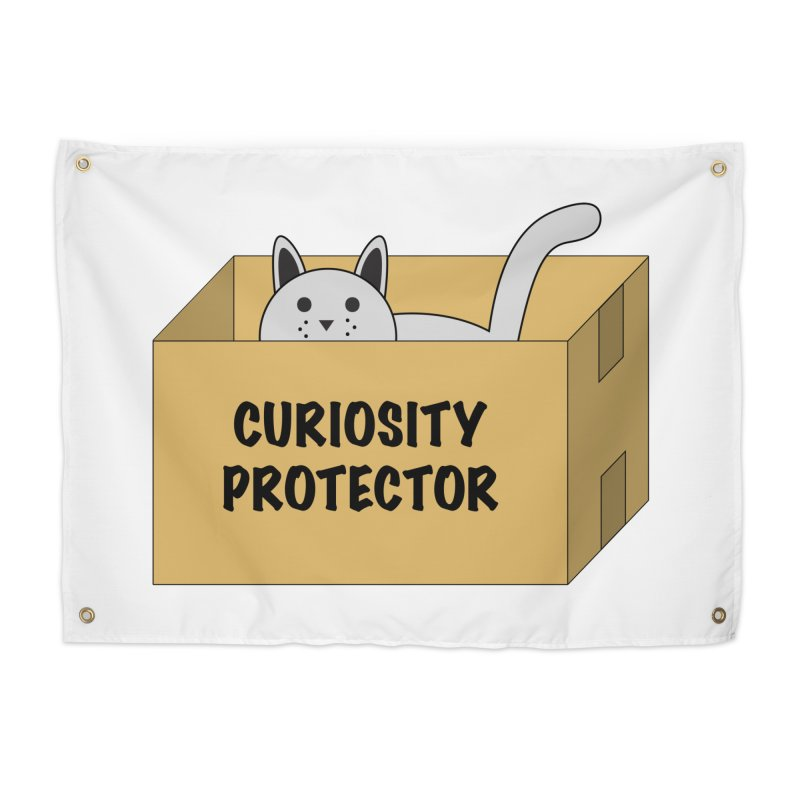 """Cat """"Curiosity Protector"""" A.K.A. """"BOX"""" Home Tapestry by donnovanknight's Artist Shop"""