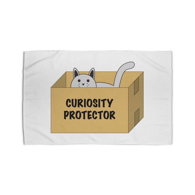 """Cat """"Curiosity Protector"""" A.K.A. """"BOX"""" Home Rug by donnovanknight's Artist Shop"""