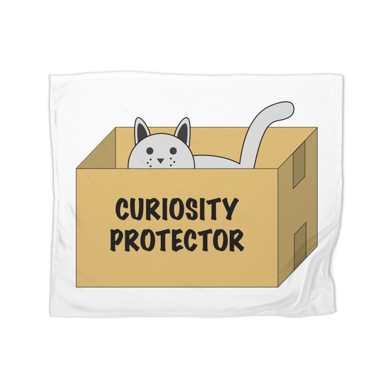 "Cat ""Curiosity Protector"" A.K.A. ""BOX"" Home Blanket by donnovanknight's Artist Shop"