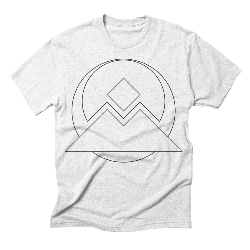 Snowy Mountain Pass Men's Triblend T-shirt by donnovanknight's Artist Shop