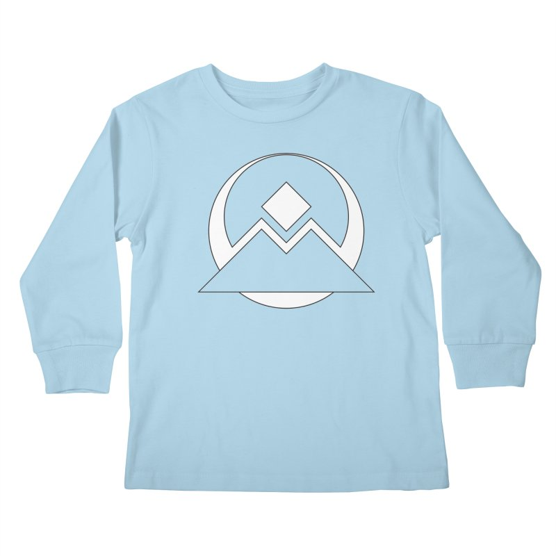 Snowy Mountain Pass Kids Longsleeve T-Shirt by donnovanknight's Artist Shop