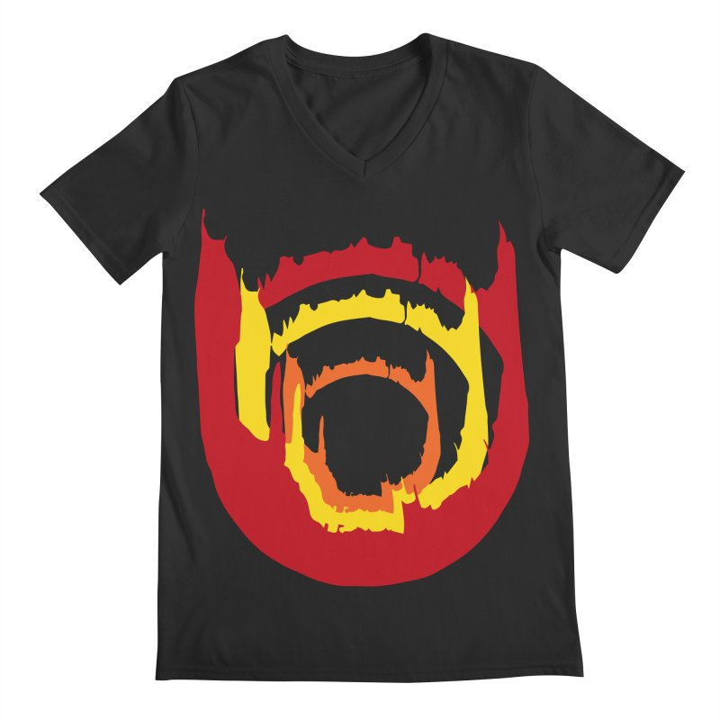 Ring of Fire Men's V-Neck by donnovanknight's Artist Shop