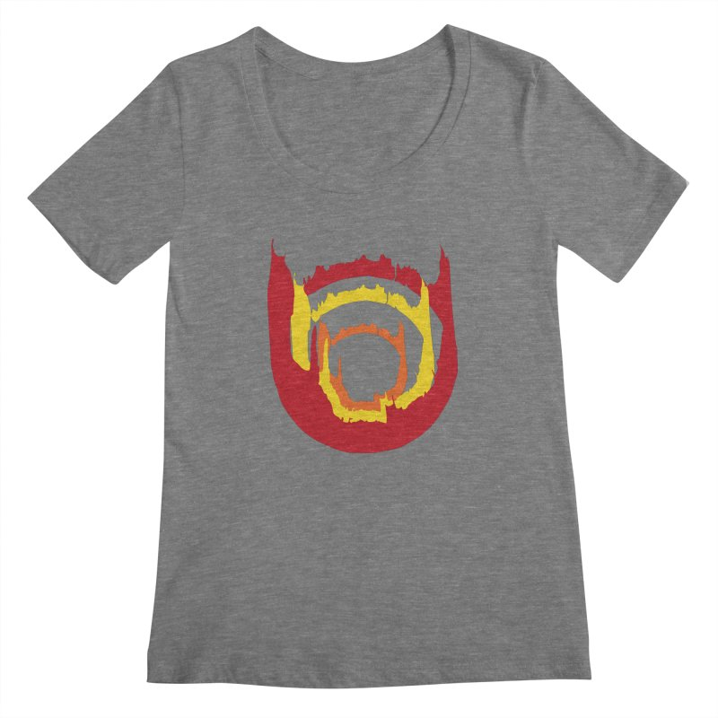 Ring of Fire Women's Scoopneck by donnovanknight's Artist Shop