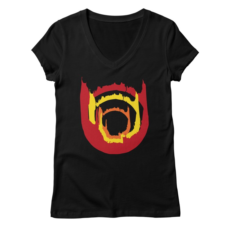 Ring of Fire Women's V-Neck by donnovanknight's Artist Shop