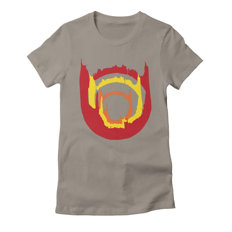 Ring of Fire Women's Fitted T-Shirt by donnovanknight's Artist Shop