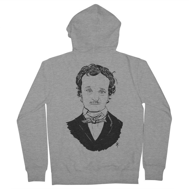 Edgar Allan Poe Men's Zip-Up Hoody by donnovanknight's Artist Shop