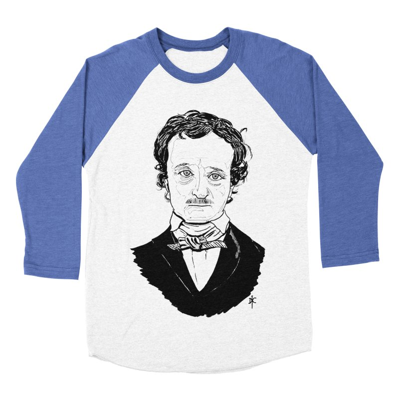 Edgar Allan Poe Men's Baseball Triblend T-Shirt by donnovanknight's Artist Shop
