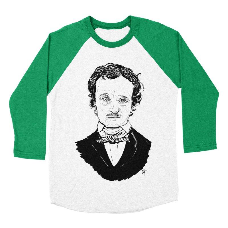 Edgar Allan Poe Men's Baseball Triblend T-Shirt by donnovanknight's Artist Shop