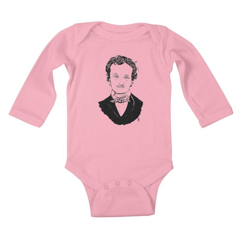 Edgar Allan Poe Kids Baby Longsleeve Bodysuit by donnovanknight's Artist Shop