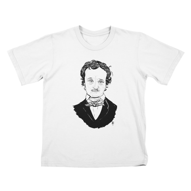 Edgar Allan Poe Kids T-Shirt by donnovanknight's Artist Shop