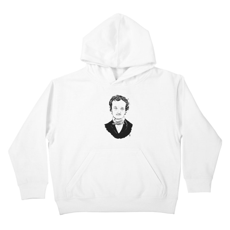 Edgar Allan Poe Kids Pullover Hoody by donnovanknight's Artist Shop