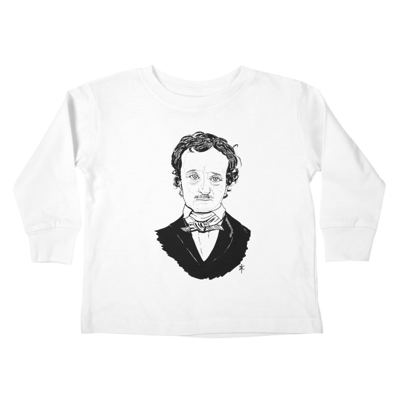 Edgar Allan Poe Kids Toddler Longsleeve T-Shirt by donnovanknight's Artist Shop