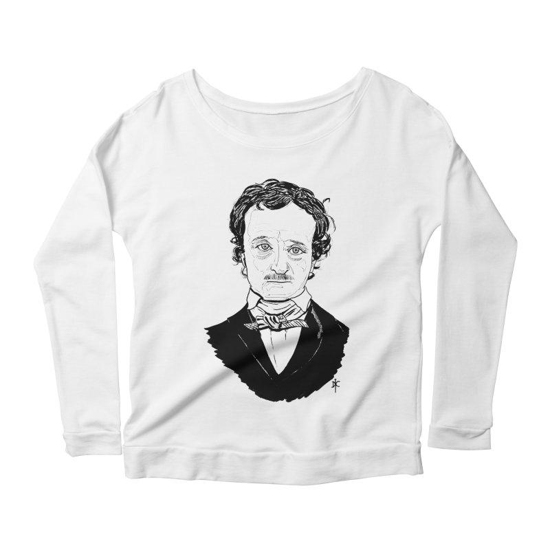 Edgar Allan Poe Women's Longsleeve Scoopneck  by donnovanknight's Artist Shop