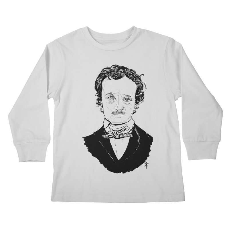 Edgar Allan Poe Kids Longsleeve T-Shirt by donnovanknight's Artist Shop