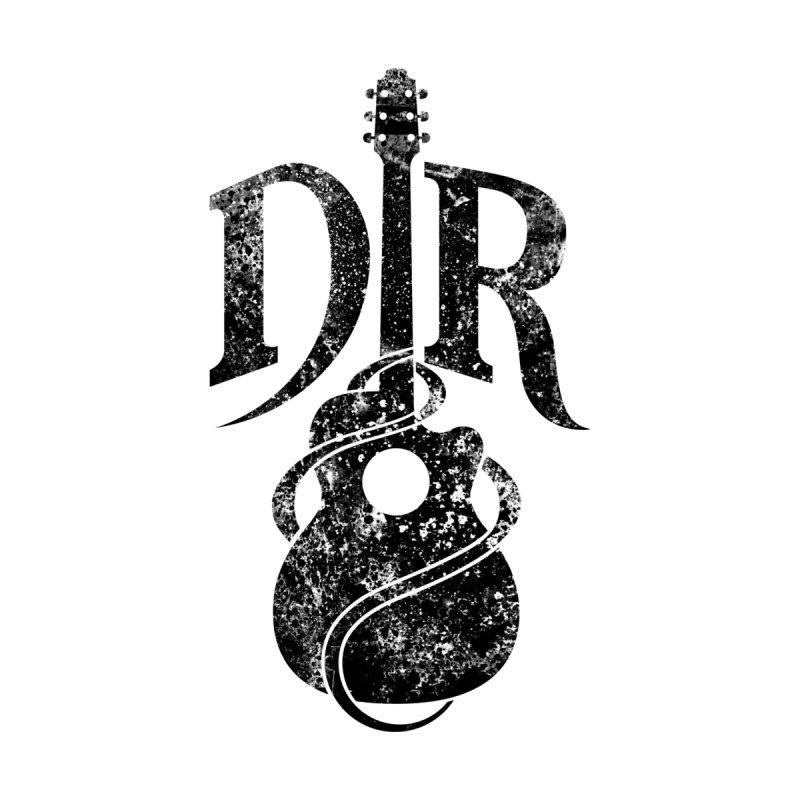 "Donovan Raitt Distressed Black ""DR"" Guitar Logo by Donovan Raitt's Merch Shop"