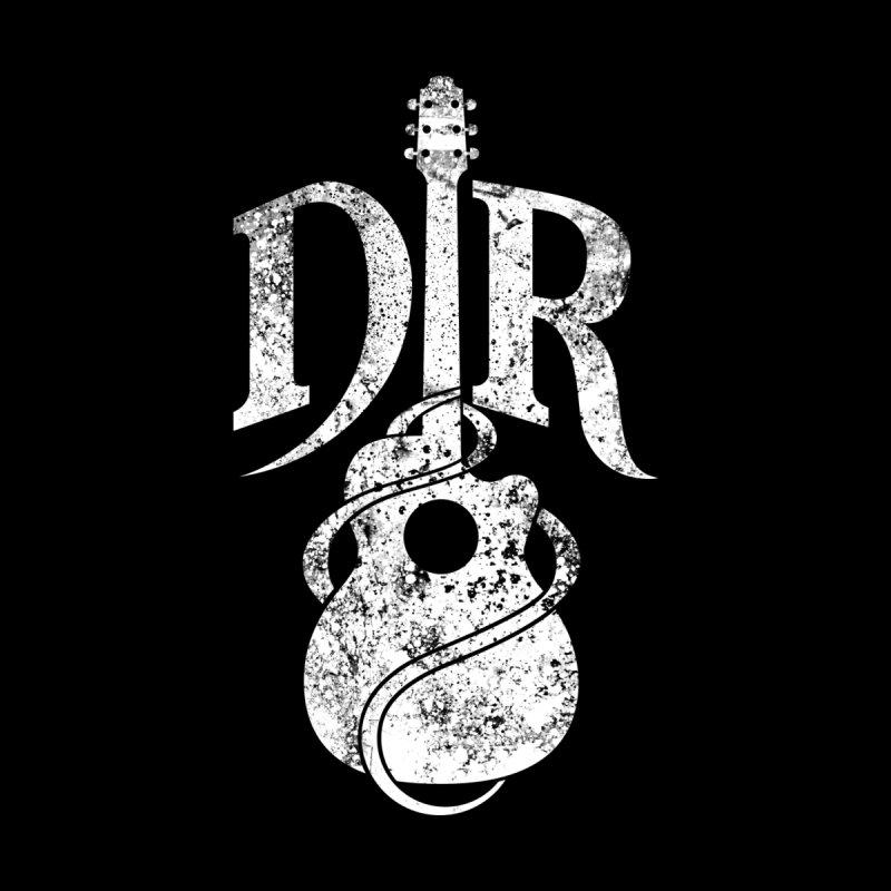 "Donovan Raitt Distressed White ""DR"" Guitar Logo by Donovan Raitt's Merch Shop"