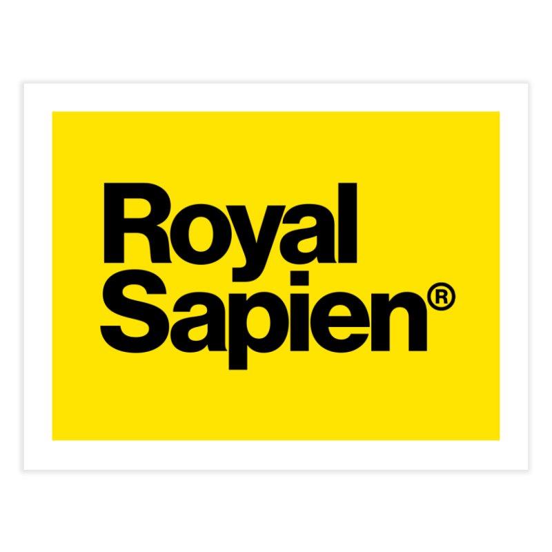Royal Sapien Logo Home Fine Art Print by DROP