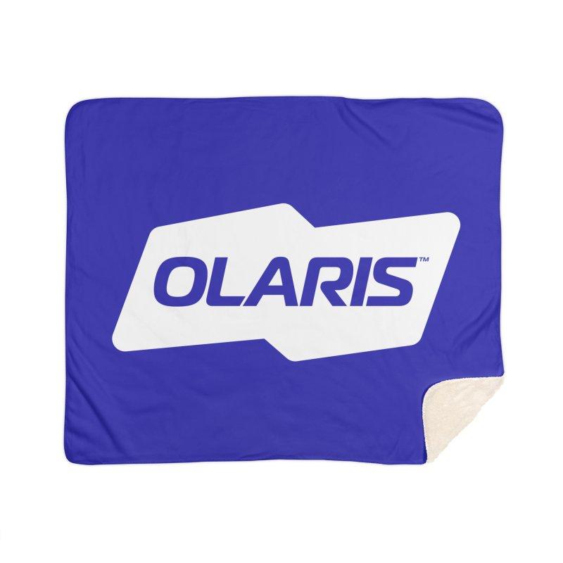 Olaris Logo (White) Home Blanket by DROP