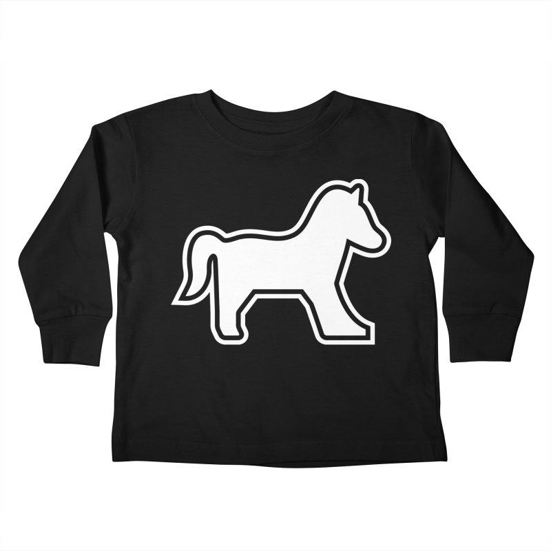 Horsedozer Logo Kids Toddler Longsleeve T-Shirt by DROP