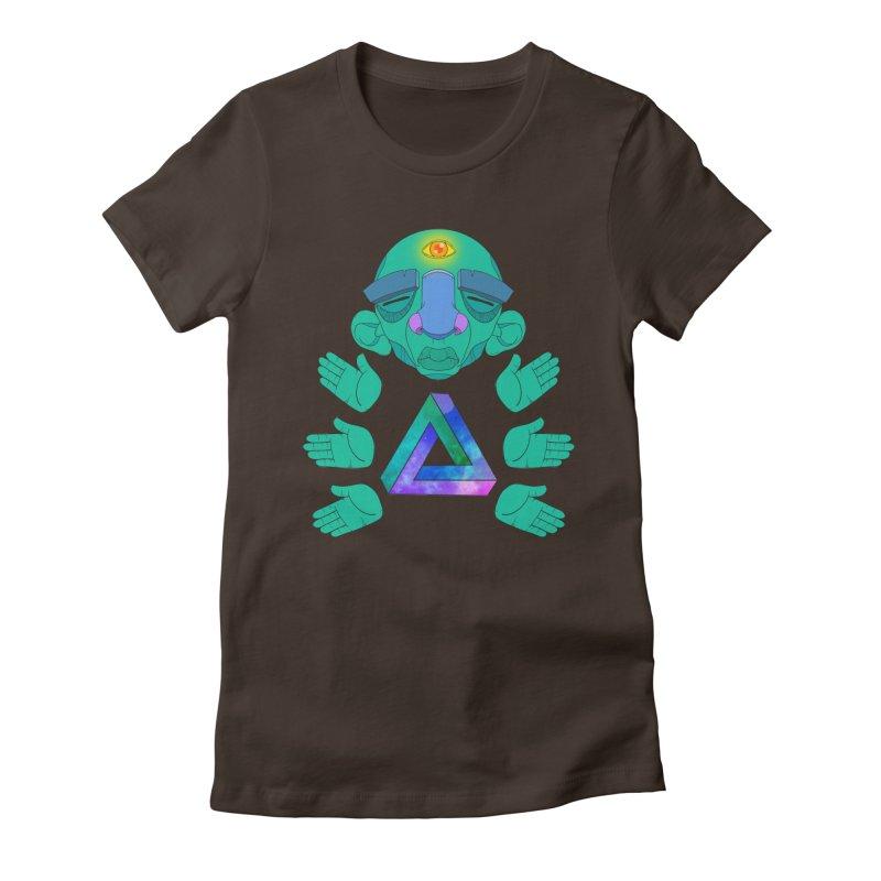 Meta Medi Women's Fitted T-Shirt by donvagabond's Artist Shop