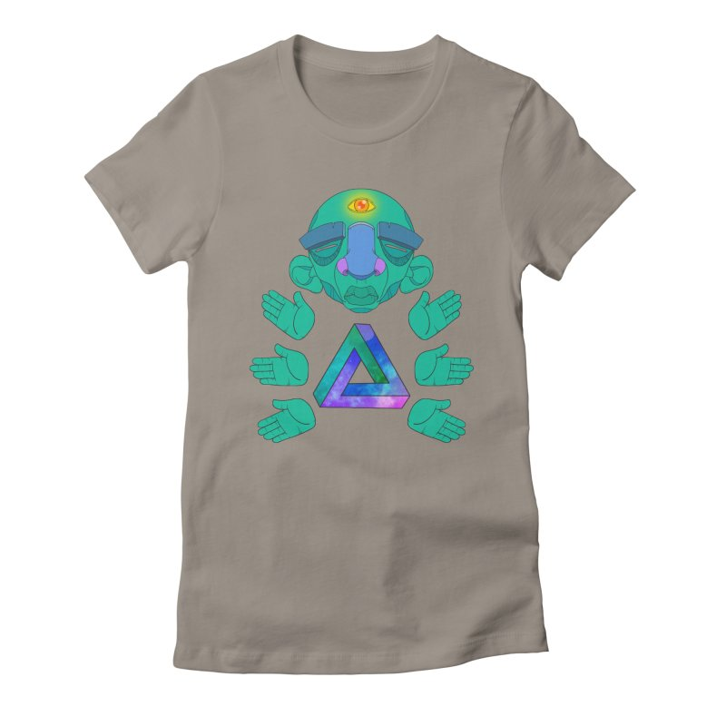 Meta Medi Women's Fitted T-Shirt by donvagabond's Artist Shop