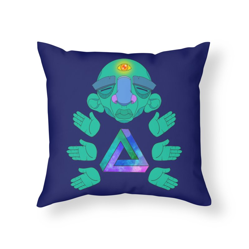 Meta Medi Home Throw Pillow by donvagabond's Artist Shop