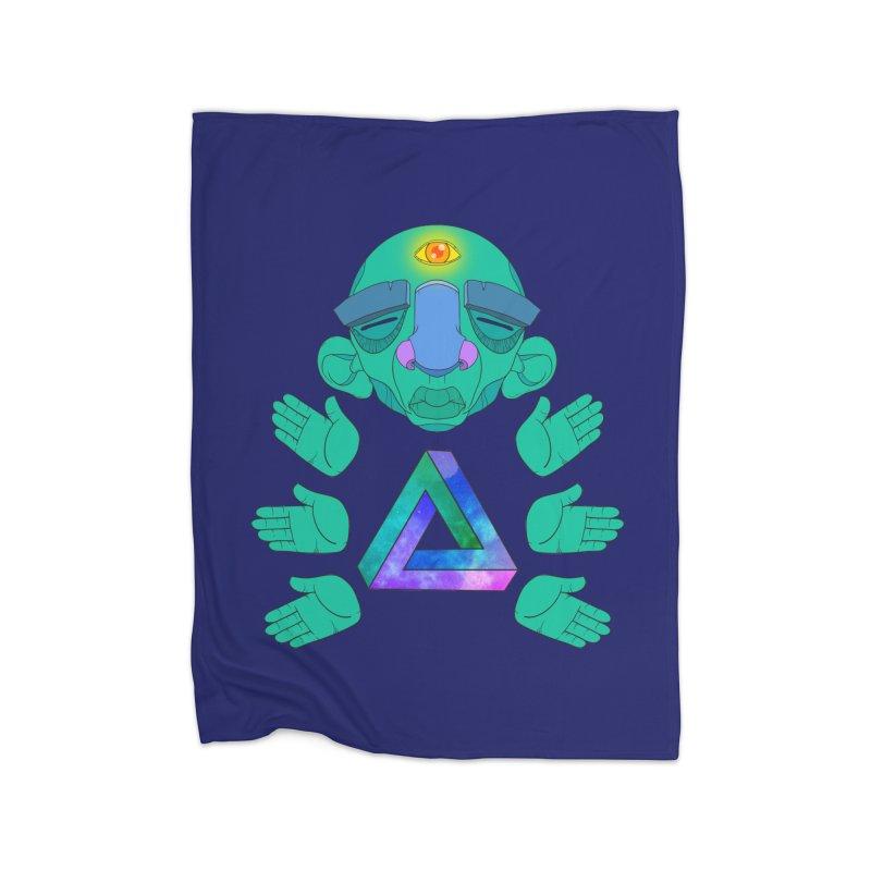 Meta Medi Home Fleece Blanket Blanket by Don Vagabond's Artist Shop