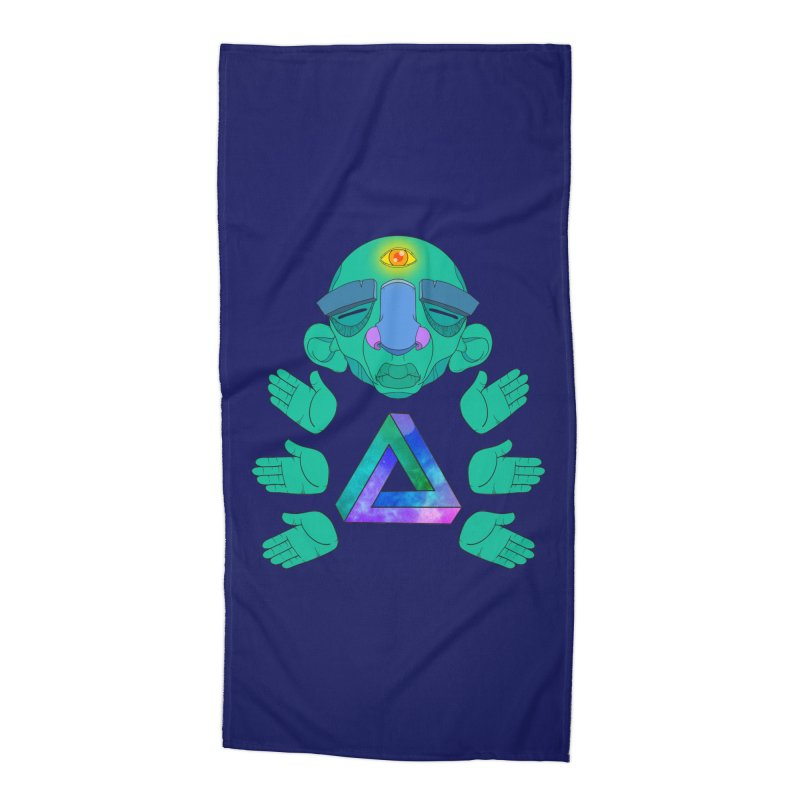Meta Medi Accessories Beach Towel by donvagabond's Artist Shop