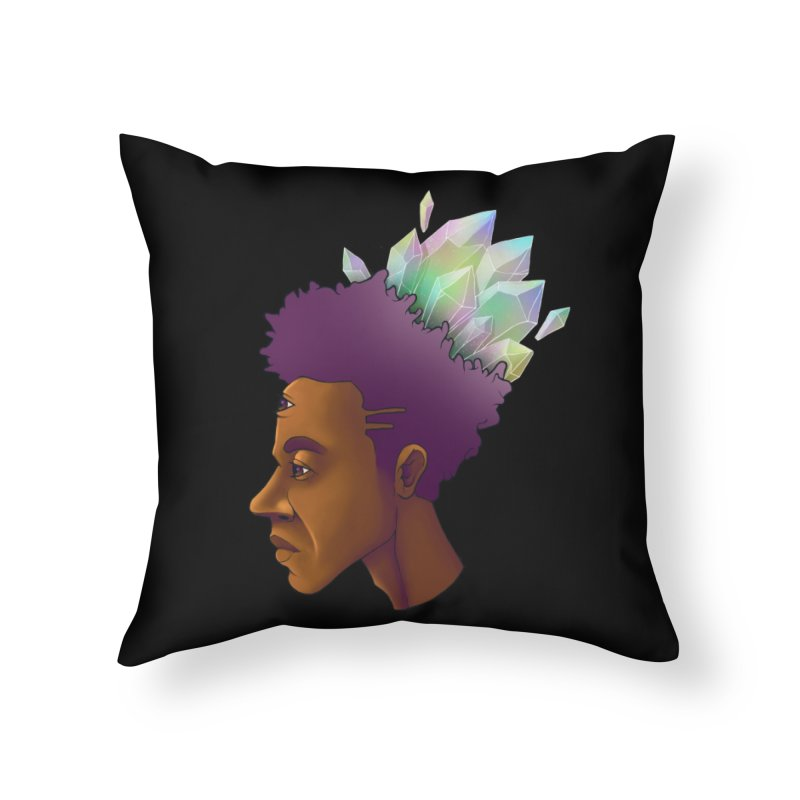 Crown Jewel Home Throw Pillow by donvagabond's Artist Shop