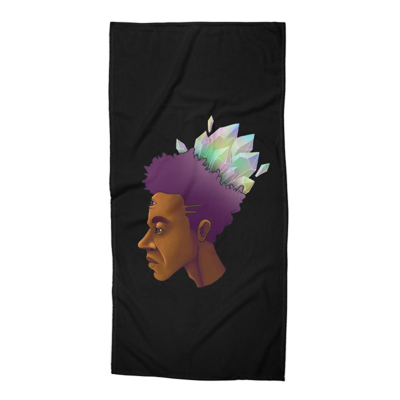 Crown Jewel Accessories Beach Towel by donvagabond's Artist Shop
