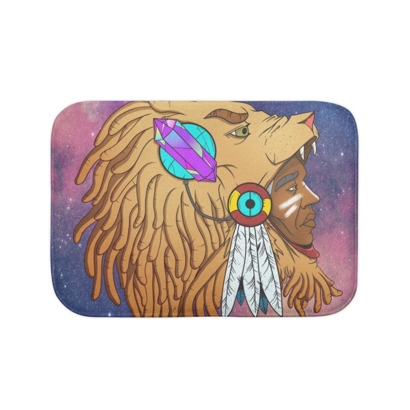 Crystal Shaman Home Bath Mat by donvagabond's Artist Shop
