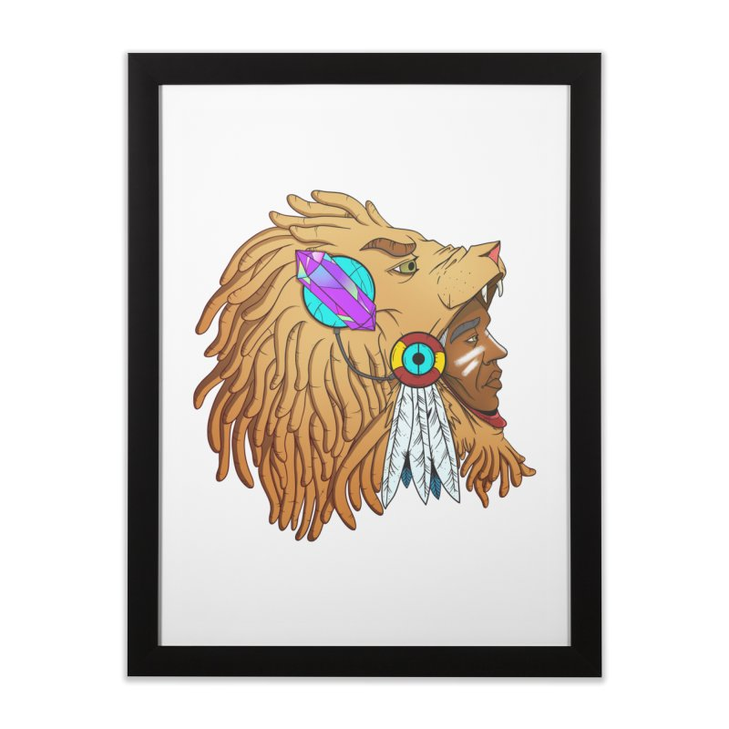 Crystal Shaman Home Framed Fine Art Print by donvagabond's Artist Shop