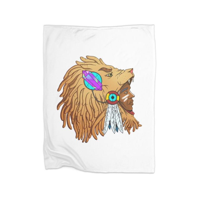 Crystal Shaman Home Fleece Blanket Blanket by Don Vagabond's Artist Shop