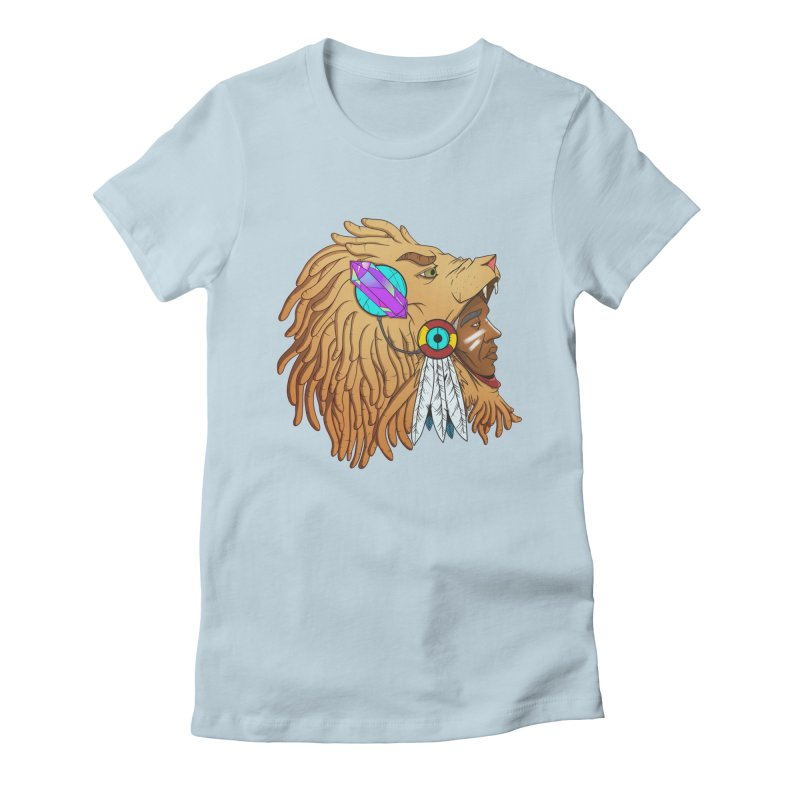 Crystal Shaman Women's Fitted T-Shirt by donvagabond's Artist Shop