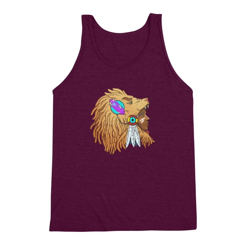 Crystal Shaman Men's Triblend Tank by donvagabond's Artist Shop