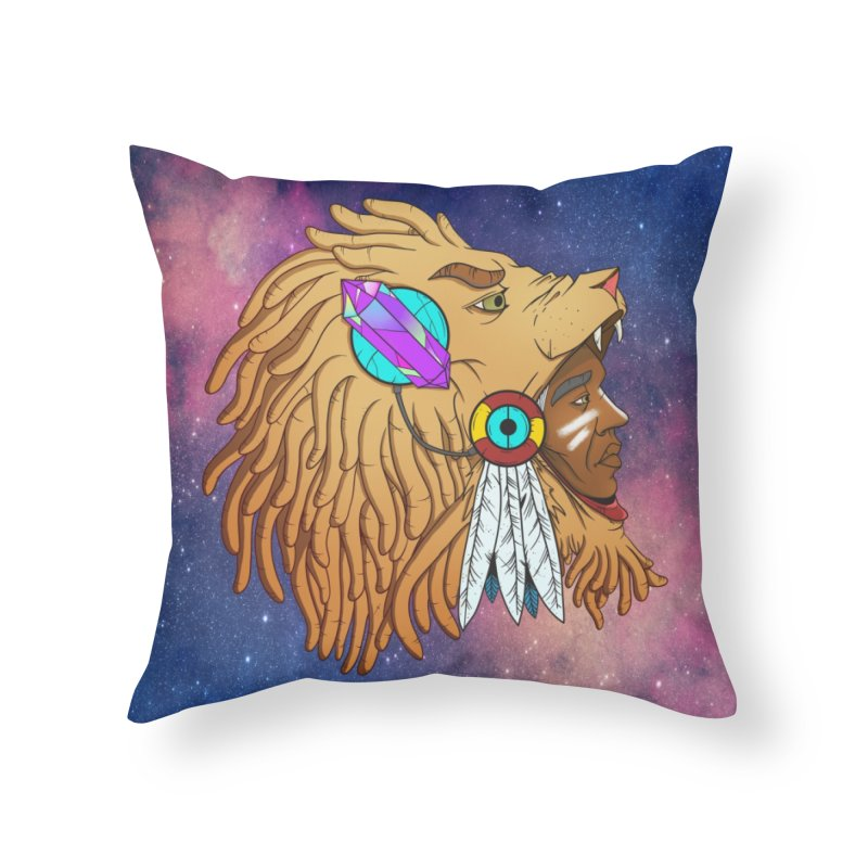 Crystal Shaman Home Throw Pillow by donvagabond's Artist Shop