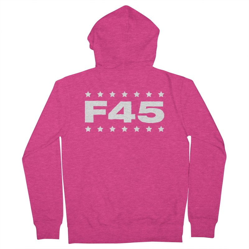 F45  (white) Women's Zip-Up Hoody by donvagabond's Artist Shop