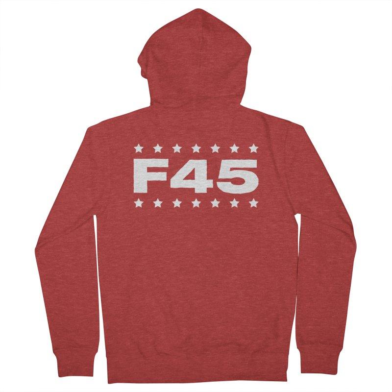 F45  (white) Men's Zip-Up Hoody by donvagabond's Artist Shop