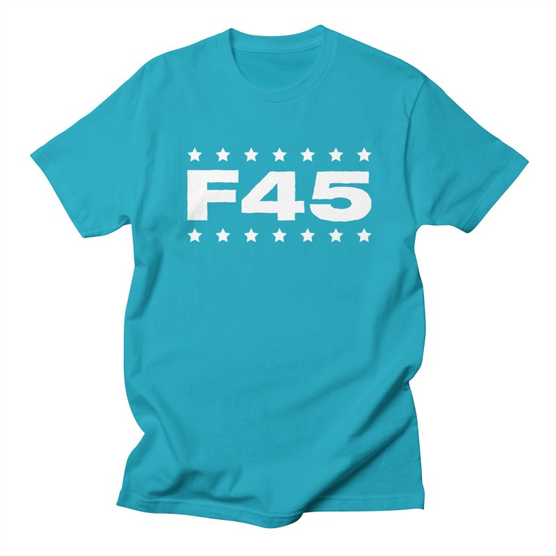 F45  (white) Men's T-Shirt by donvagabond's Artist Shop