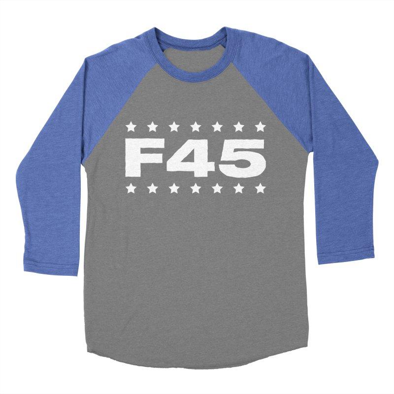 F45  (white) Men's Baseball Triblend T-Shirt by donvagabond's Artist Shop
