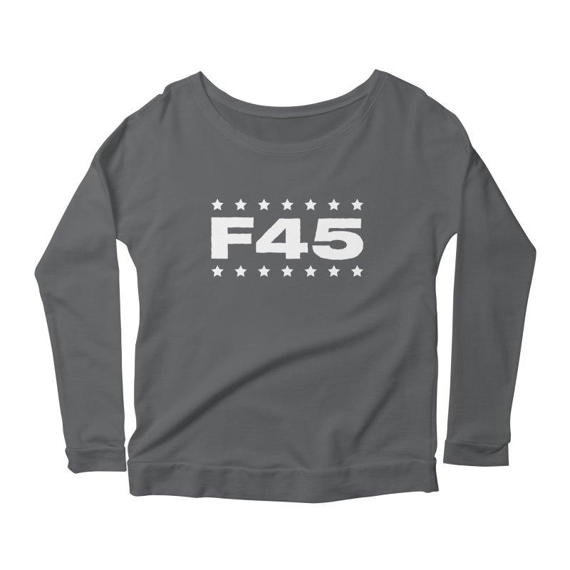 F45  (white) Women's Scoop Neck Longsleeve T-Shirt by donvagabond's Artist Shop