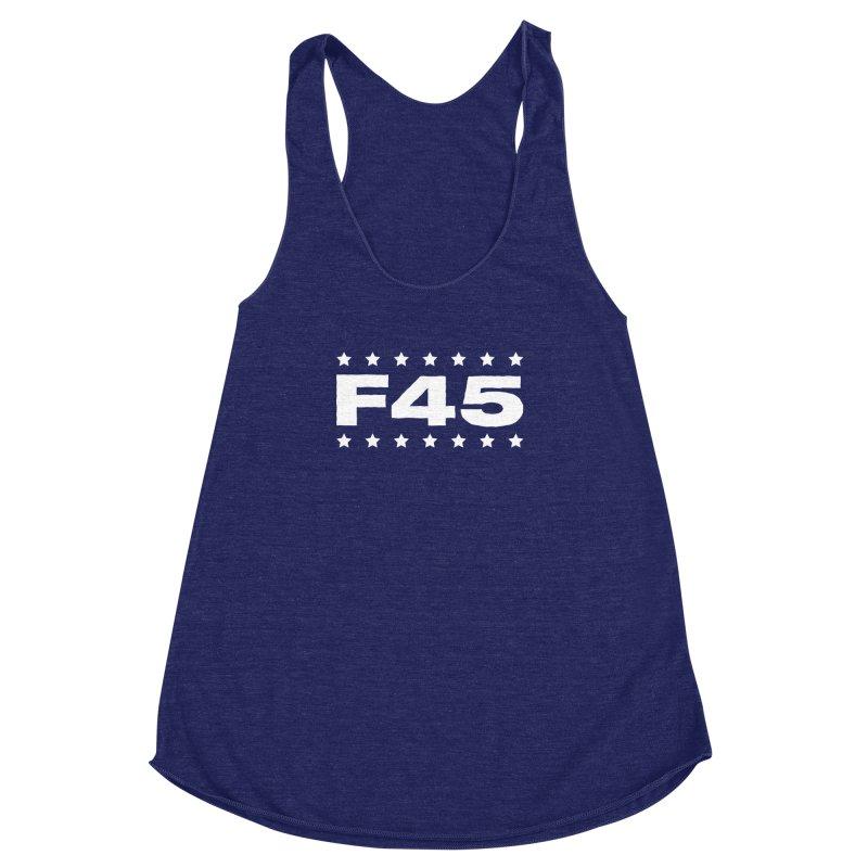 F45  (white) Women's Racerback Triblend Tank by donvagabond's Artist Shop