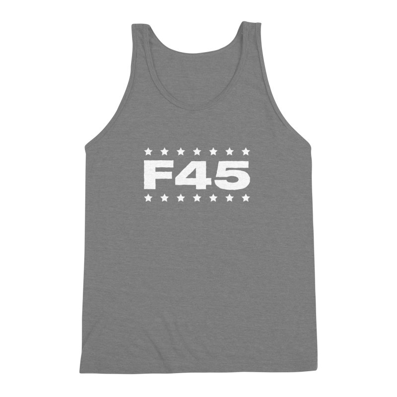 F45  (white) Men's Triblend Tank by donvagabond's Artist Shop