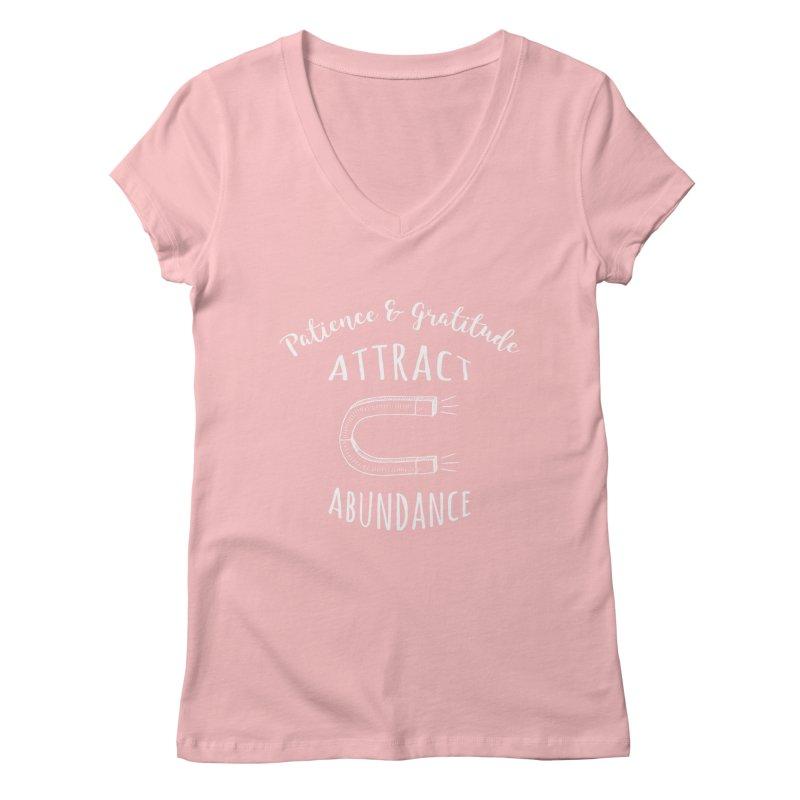 Attract Abundance Women's V-Neck by donvagabond's Artist Shop