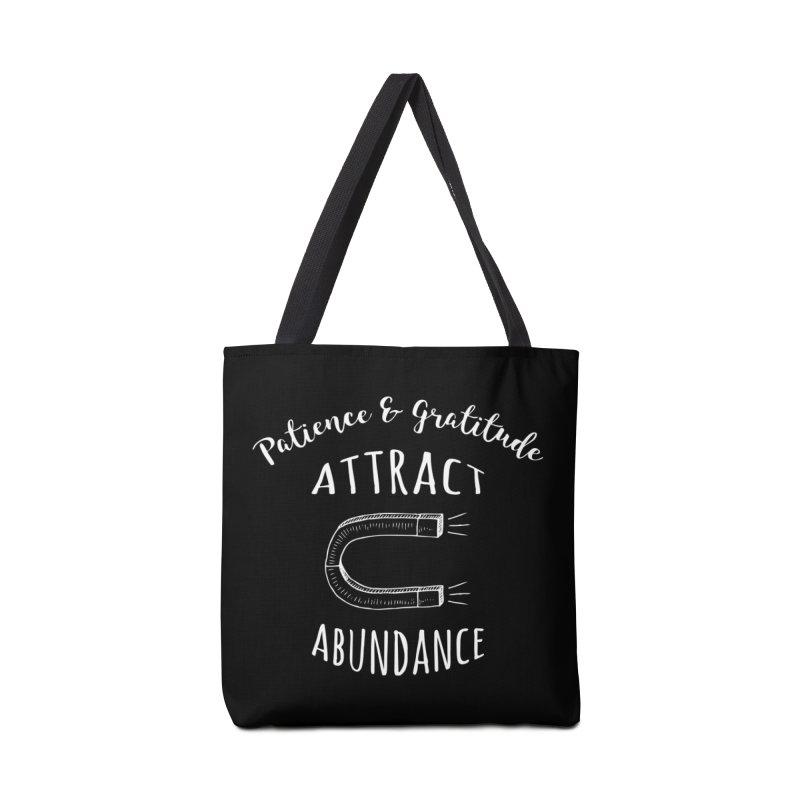 Patience & Gratitude Attract Abundance Accessories Bag by donvagabond's Artist Shop