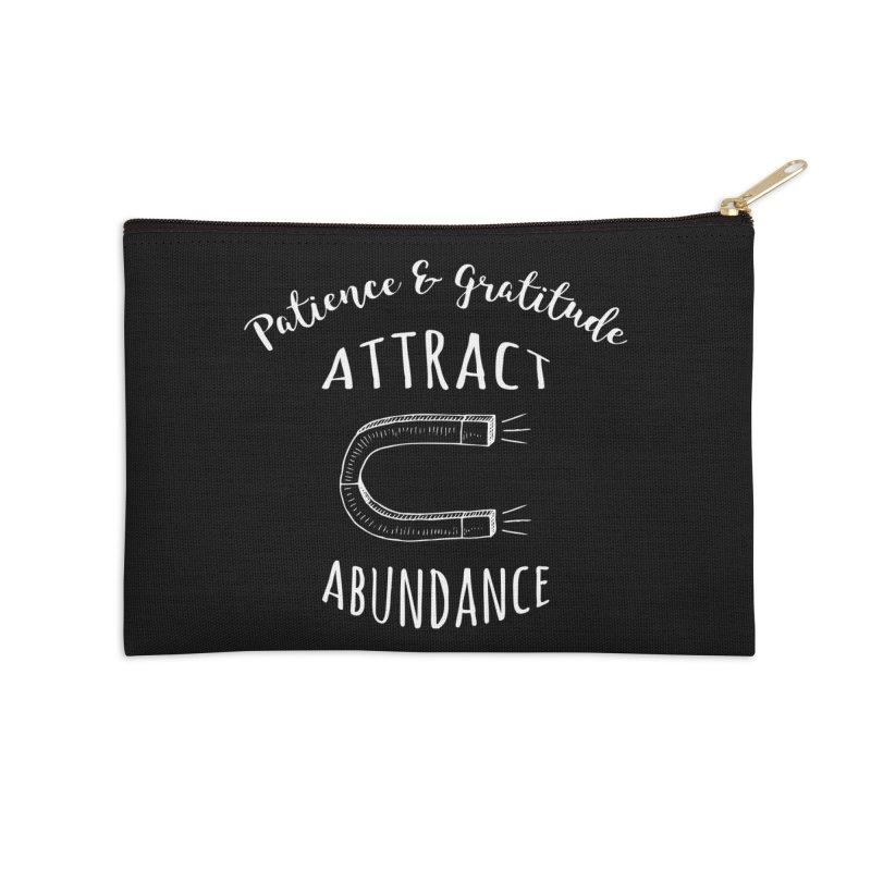 Patience & Gratitude Attract Abundance Accessories Zip Pouch by donvagabond's Artist Shop